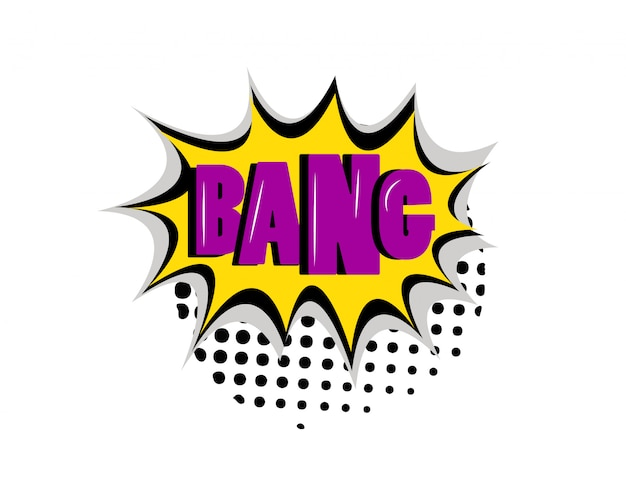 Bang boom comic-text