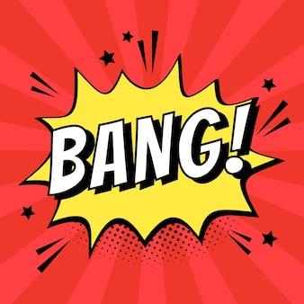 Bang cartoon-effekt sprechblasen-design-ressource