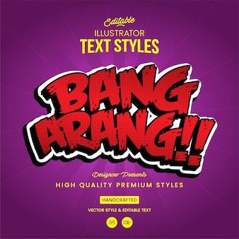Bang-textstil