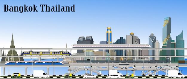 Bangkok-eisenbahn-transport-vektor