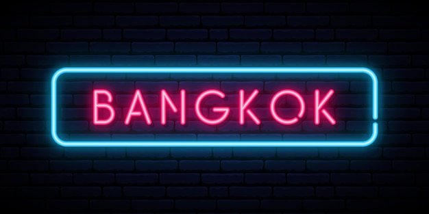 Bangkok leuchtreklame.