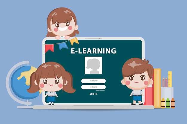 Bangkok student online schulbildungskonzept