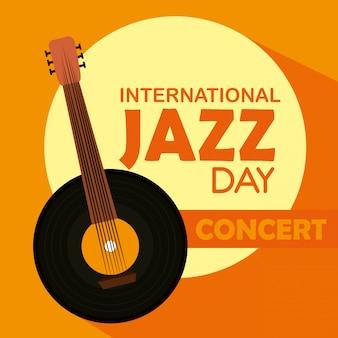Banjo-instrument zum internationalen jazz-tag