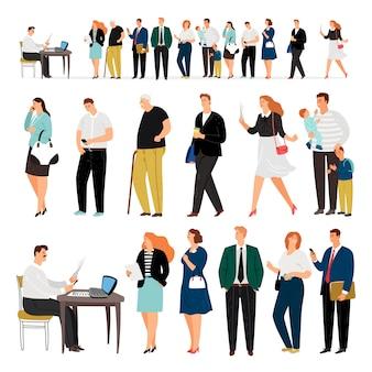 Bank business service warteschlange personen