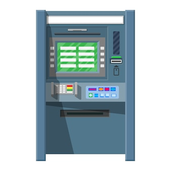 Bank geldautomat. geldautomaten.