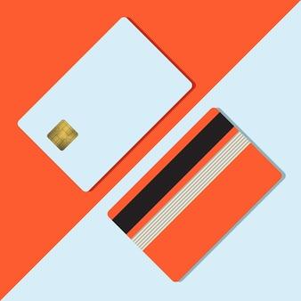 Bank-kreditkartenmodell vektor-illustration leere geschäftsvorlage