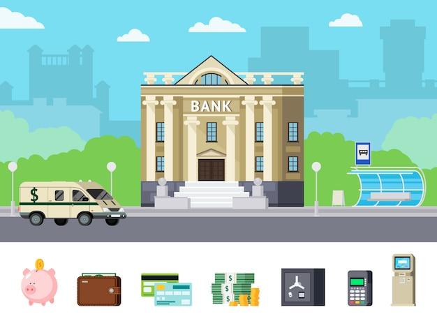 Bank orthogonales konzept