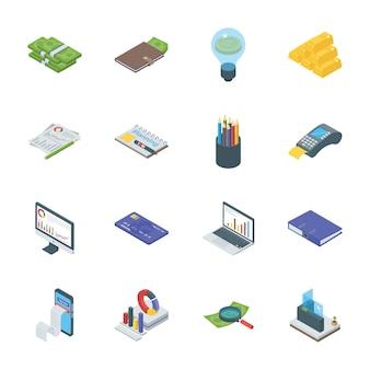 Bank- und finanzwesen-ikonen