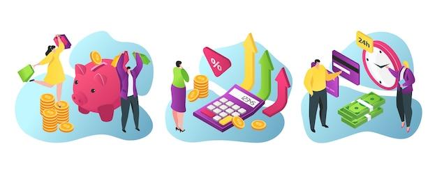Bankdienstleistungen für wirtschaft und finanzen flach
