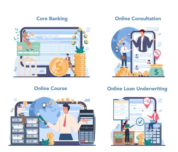 Banker online-service oder plattform-set