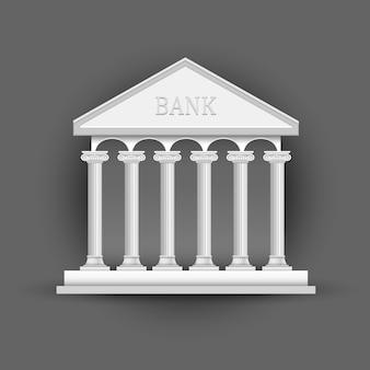 Bankgebäude symbol