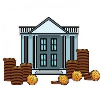 Bankgebäude-symbol