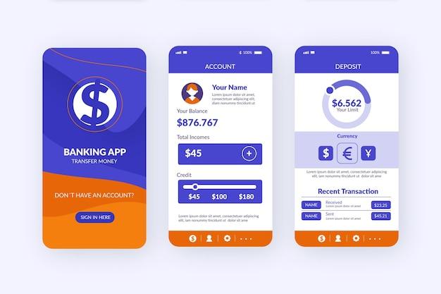 Banking app-oberfläche