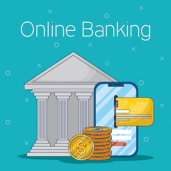 Banking online-technologie mit smartphone