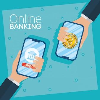 Banking online-technologie mit smartphones