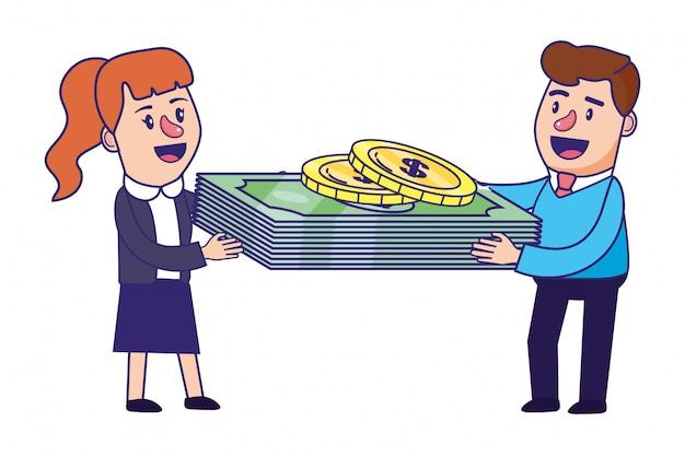 Banking teamwork finanzplanung