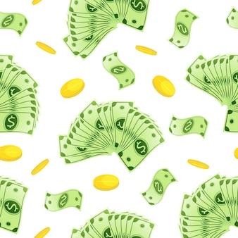 Banknoten nahtlose muster