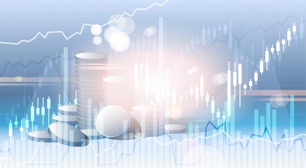 Bankwesengeschäfts-fahnen-finanzeinsparungen abstrakter schattenbild-stadt-hintergrund