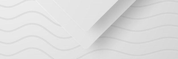 Banner abstrakter geometrischer weißer hintergrund