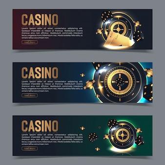 Banner auf ein casino-thema gesetzt.