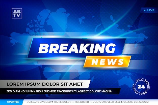 Banner breaking news vorlage