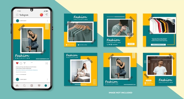 Banner-bundle-kit set von social media instagram story poster flyer coupon layout vorlage geschichte