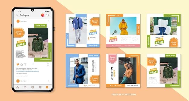 Banner-bundle-kit set von social media instagram story poster flyer coupon