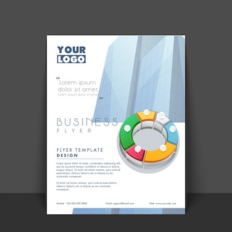 Banner bunte broschüre präsentation flyer