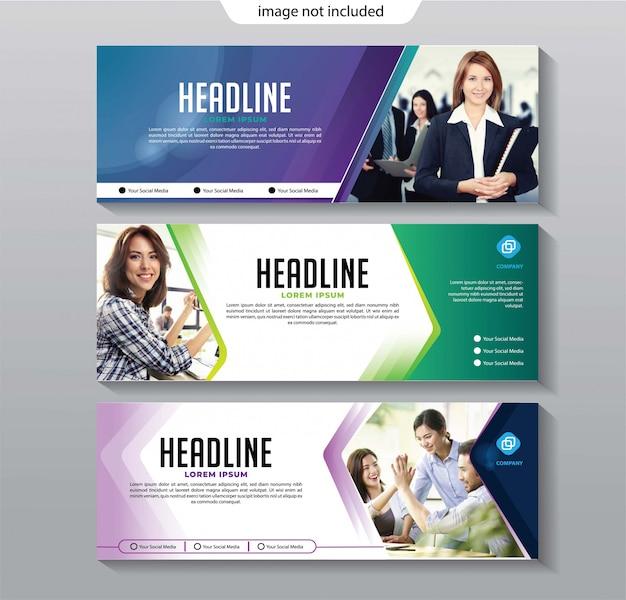 Banner business-template-set