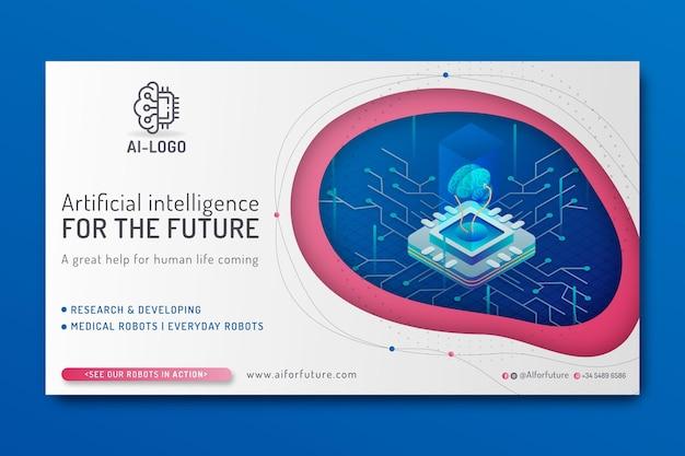 Banner der künstlichen intelligenz
