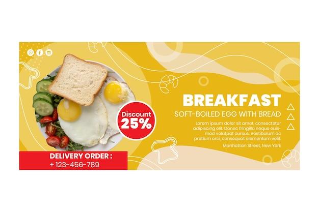 Banner des frühstücksrestaurants