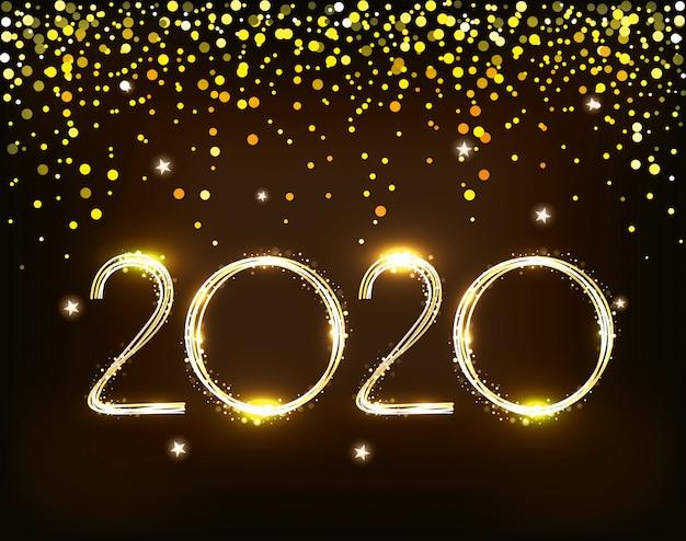 Banner des guten rutsch ins neue jahr 2020