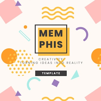 Banner-design der memphis-website