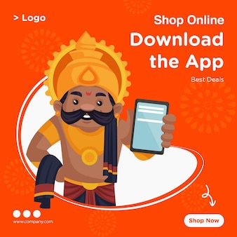 Banner design der online-shop-best-deal-vorlage