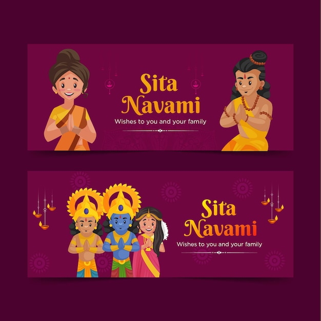 Banner design der sita navami vorlage