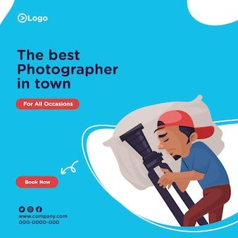 Banner design des besten fotografen der stadt