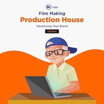 Banner design des filmproduktionshauses