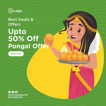 Banner design des pongal festivalangebots