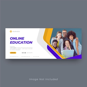 Banner-design für bildungs-cover