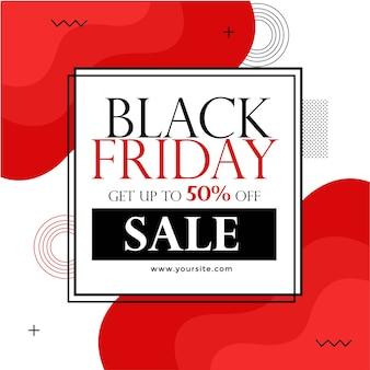Banner design für black friday sale