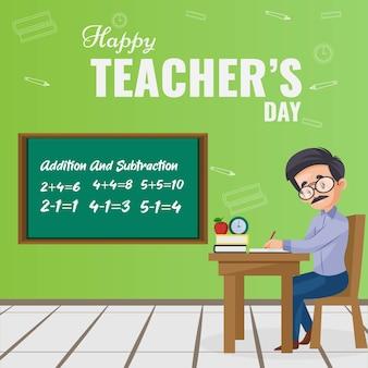 Banner design für glücklichen lehrertag