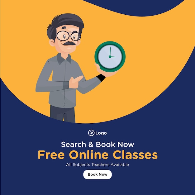 Banner-design für kostenlose online-kurse