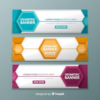 Banner Design mit geometrischen Formen