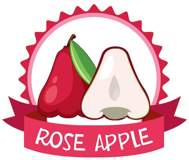 Banner-design mit rosenäpfeln