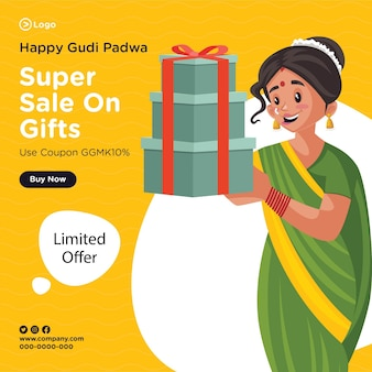 Banner design von happy gudi padwa super sale auf geschenken