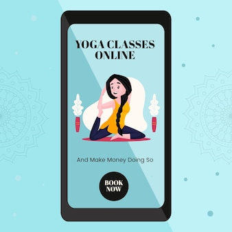 Banner-design von yoga-online-kursen