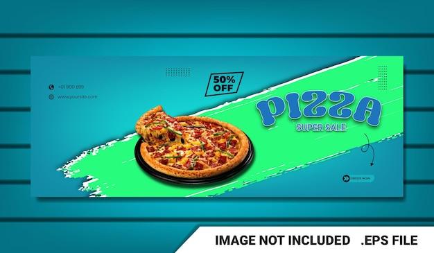 Banner food-menü facebook-cover-vorlage mit texteffekt editierbar