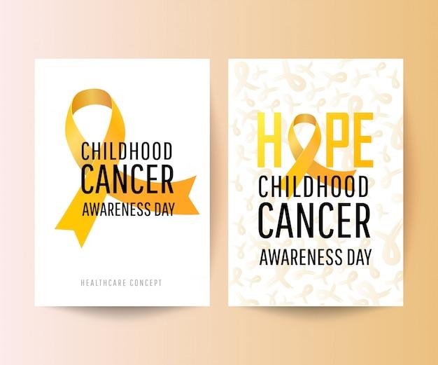 Banner für den tag des bewusstseins bei kindern