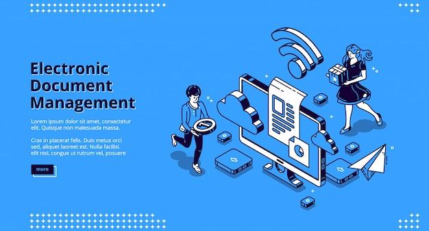 Banner für die elektronische dokumentenverwaltung