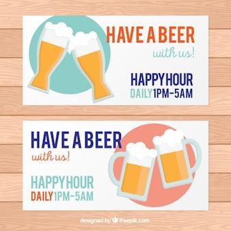 Banner für die happy hour